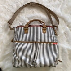 Skip Hop Messenger Diaper Bag, French Stripe